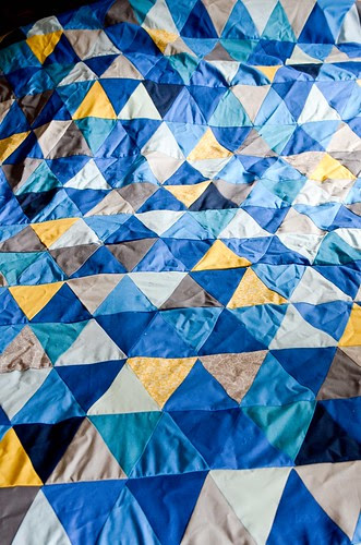Isosceles Triangle Quilt Top