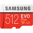 Samsung EVO Plus MB-MC512GA MicroSDXC 512 GB Memory Card with MicroSDXC to SD Adapter - UHS-I U3/Class 10