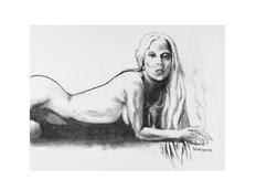 Desenho de Lady Gaga feita por Tony Bennett-reprodução/Divulgação