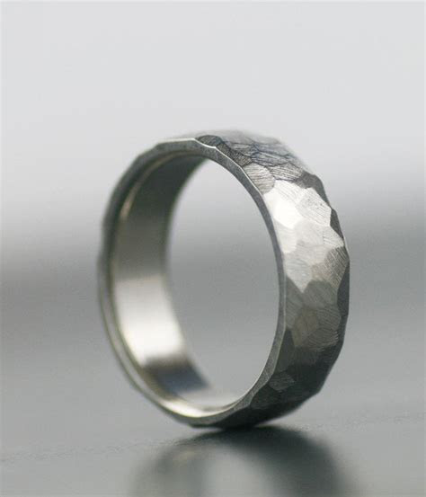 mens wedding band  palladium  white gold
