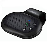 SUNITEC Hands Free Bluetooth for Cell Phone Car Kit - Wireless Bluetooth Car Speaker AUTO Power ON Support Siri Google Assistant Car Bluetooth