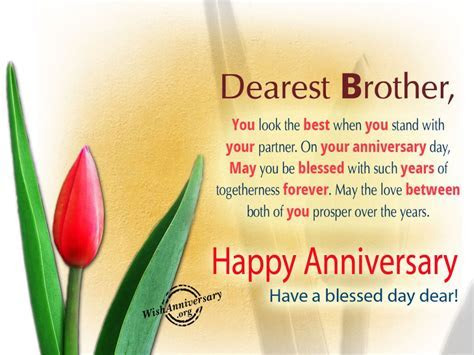 Anniversary Wishes For Brother   Wishes, Greetings