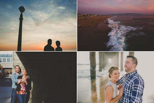 Manhattan Beach Pier Engagement Photos | Temecula Wedding Photographer