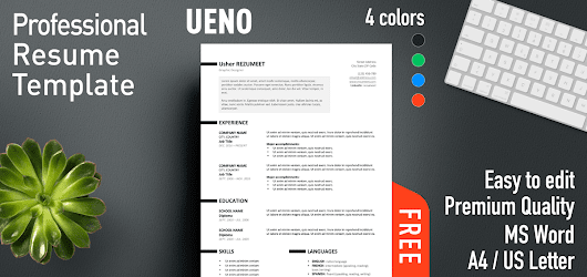 Ueno - Professional Resume Template
