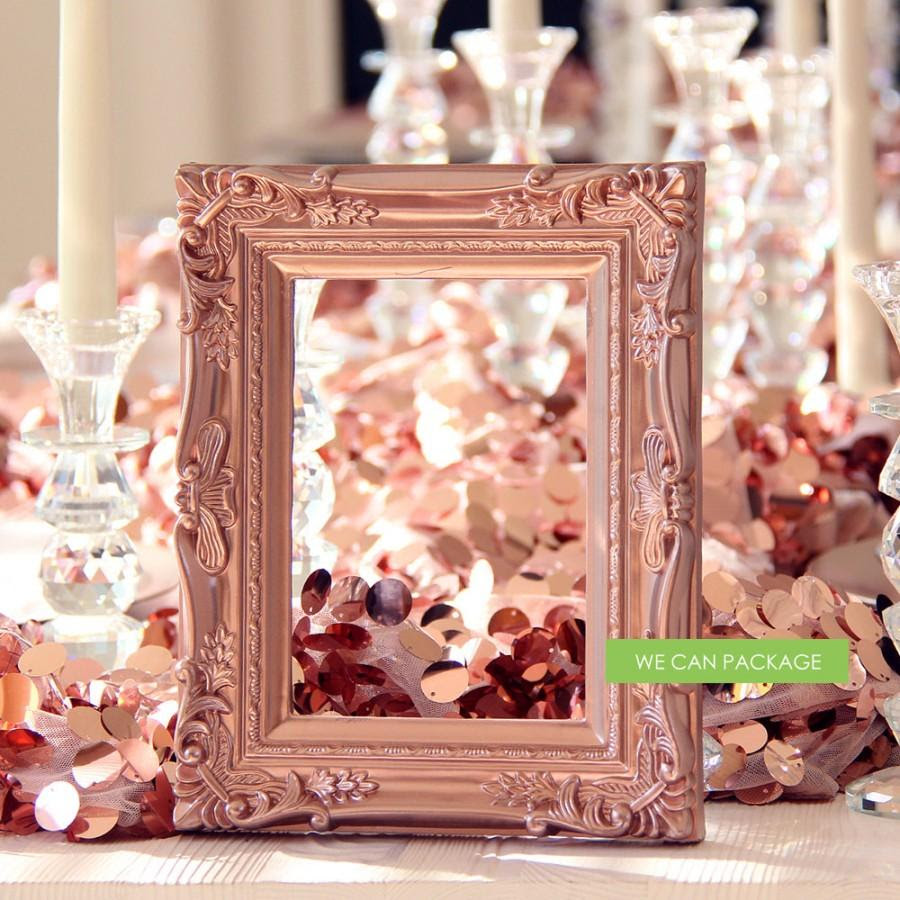 Rose Gold Picture Frame Vintage Shabby Chic Photo 5 X 7 2577588