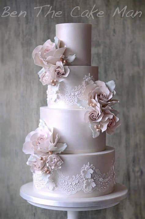 Best 25  Lace wedding cakes ideas on Pinterest