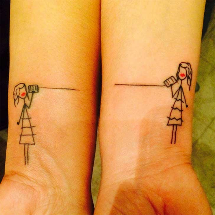 100 Ideas De Tatuajes Para Mejores Amigas Pequeños Mujeres