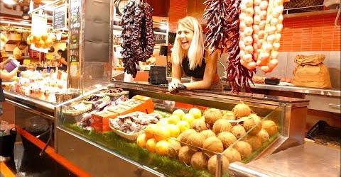 Ẩm thực đường phố Tây Ban Nha Ăn ngập mặt ở chợ La Boqueria Barcelona streetfood