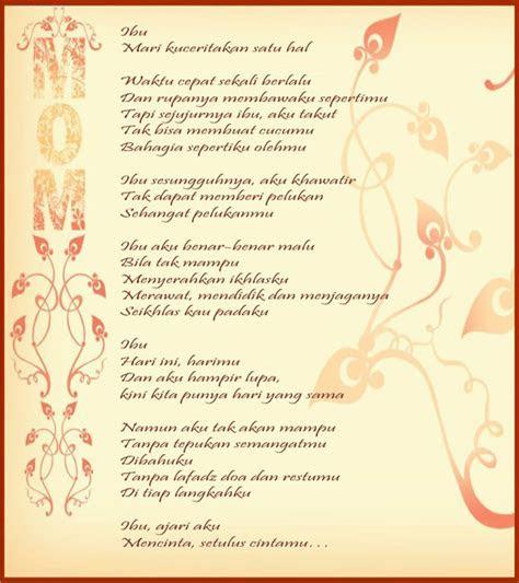 puisi tentang ibu  indah  kala hari ibu informasi
