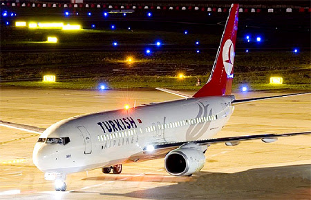 A Turkish Airlines Boeing 737-800