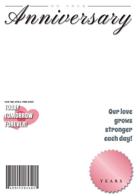 Anniversary Medallion Magazine   Happy Anniversary Card