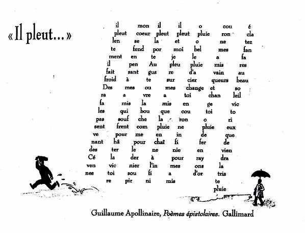 Los caligramas de Guillaume Apollinaire