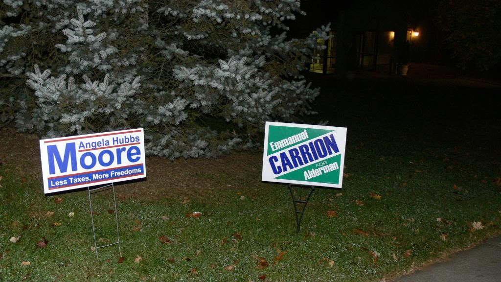 More campaign signs