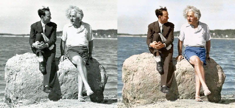 Albert-Einstein,-summer-1939---Nassau-Point,-Long-Island,-NY-edvos-comparison