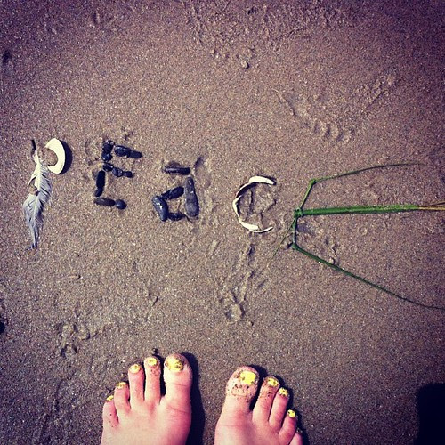 Secret little message I left at the beach this morning.