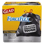 Glad ForceFlex Extra Strong Drawstring Large Trash Bags, 30 Gallon (70 ct.)
