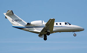 Cessna Citation jet in the UK