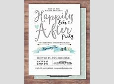 Happily ever after invitation, BOHO wedding shower Invitation, couples shower, arrows, Tribal