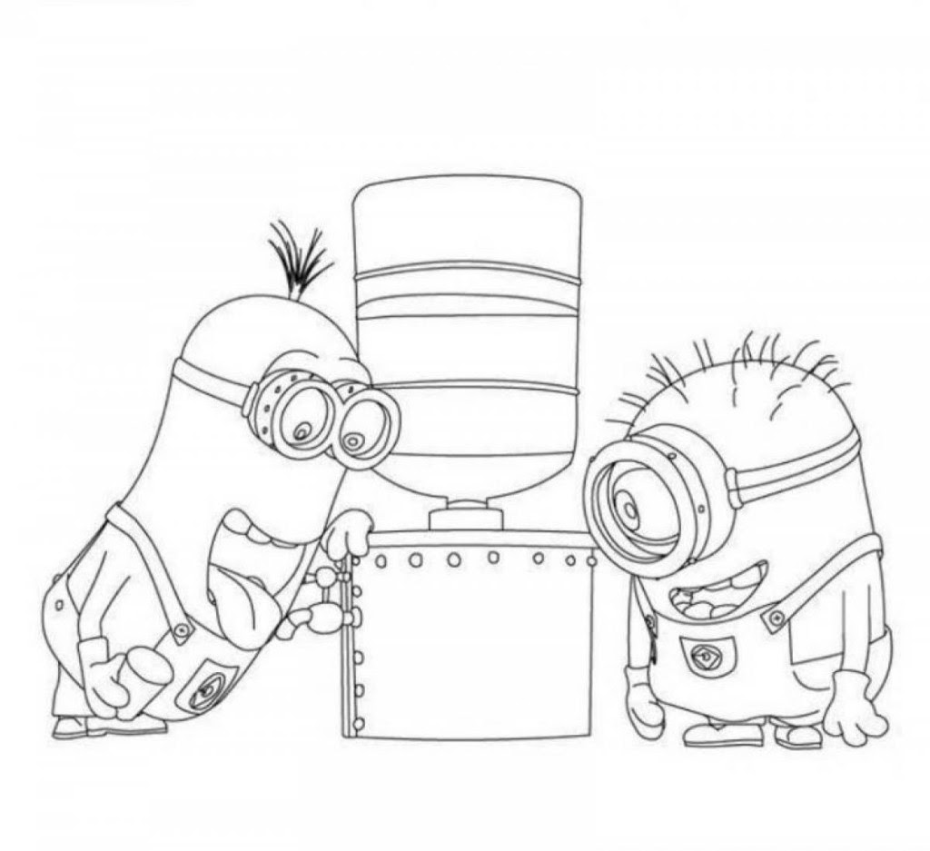 Big Coloring Pages Of Minions