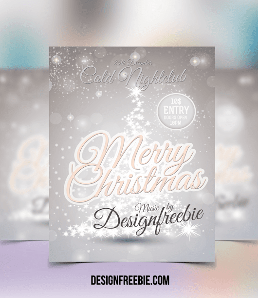 Free Download Christmas Flyer Template PSD