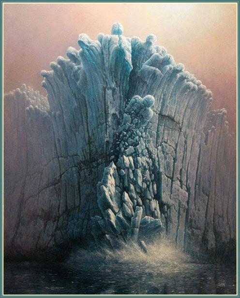 ilustracion calentamiento global, glacier, tomasz Alen Kopera, Tomasz Alen, deshielo, ilustración