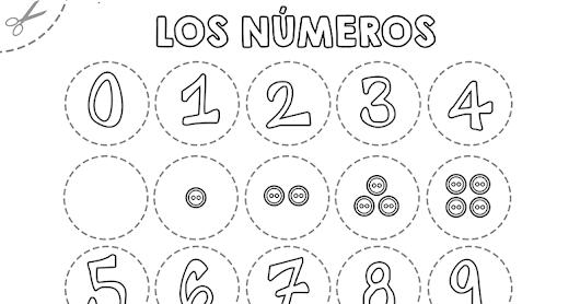 Plantillas para colorear y relacionar números, del 1 al 10 ...