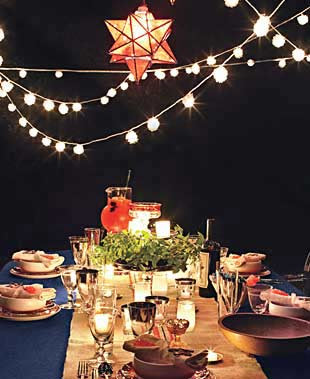 Nighttime Fourth of July Backyard Party - Holiday Party Menus ...