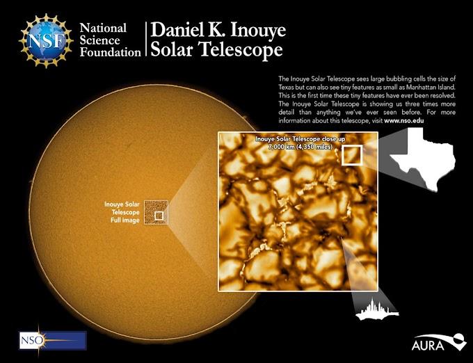 Впервые в истории астрономы получили детальные фото поверхности Солнца