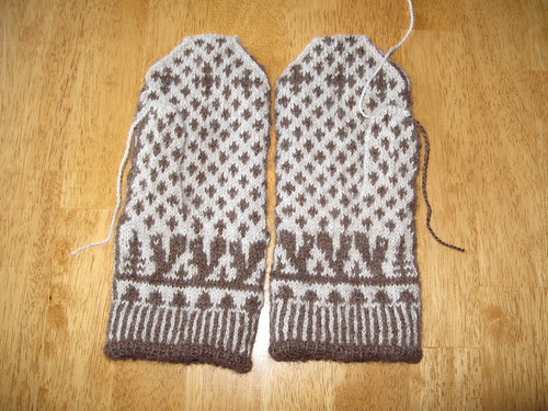 Squirrely Swedish Mittens
