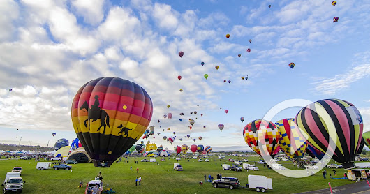 Timelapse of the 2014 Albuquerque Hot Air Balloon Fiesta