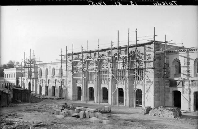 Estación de Ferrocarril de Toledo el 13 de noviembre de 1915  © Archivo Histórico Ferroviario del Museo del Ferrocarril de Madrid. Fotografía de F. Salgado. Signatura 3493-IF MZA 0-7