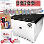 Uninet IColor 560 White Transfer Printer Double Toner Bundle, $1044 Software