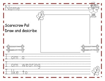 Scarecrow Pal Writing