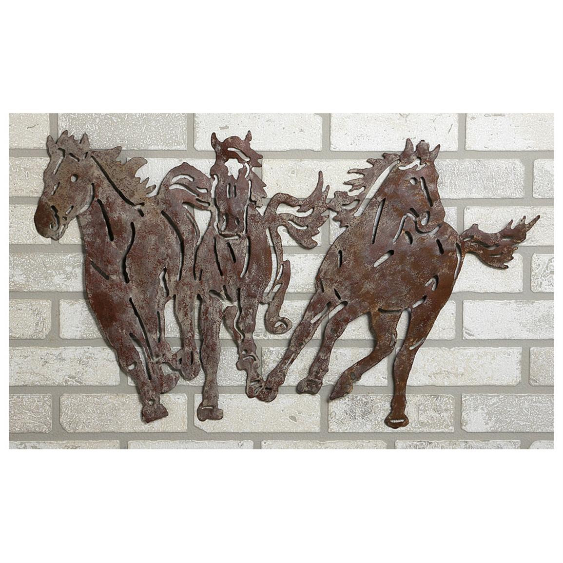 River of Goods® Wild Horses Metal Wall Art - 581832, Decorative Accessories at Sportsman's Guide