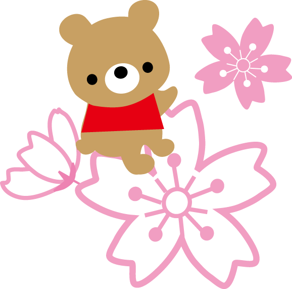 春桜お花見のイラスト無料イラスト