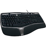 Microsoft Natural Ergonomic 4000 Wired Keyboard - Black