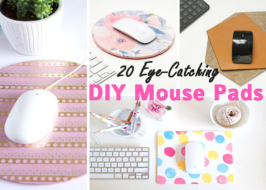 20 Eye Catching DIY Mouse Pads - Leah Nieman