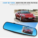 SMILEQ New 1080P HD Car Dash Camera Dual Cam Vehicle Front Rear DVR Lens Video Recorder
