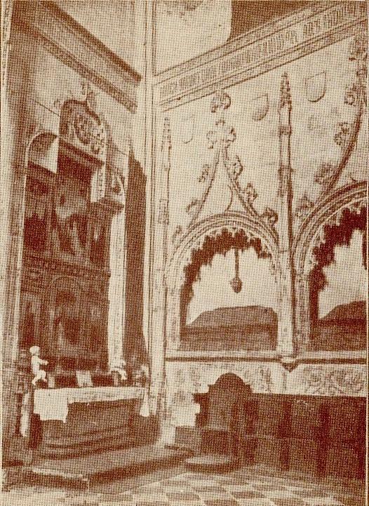 Iglesia de San Andrés. Sepulcros de los Rojas, en el crucero a inicios del siglo XX