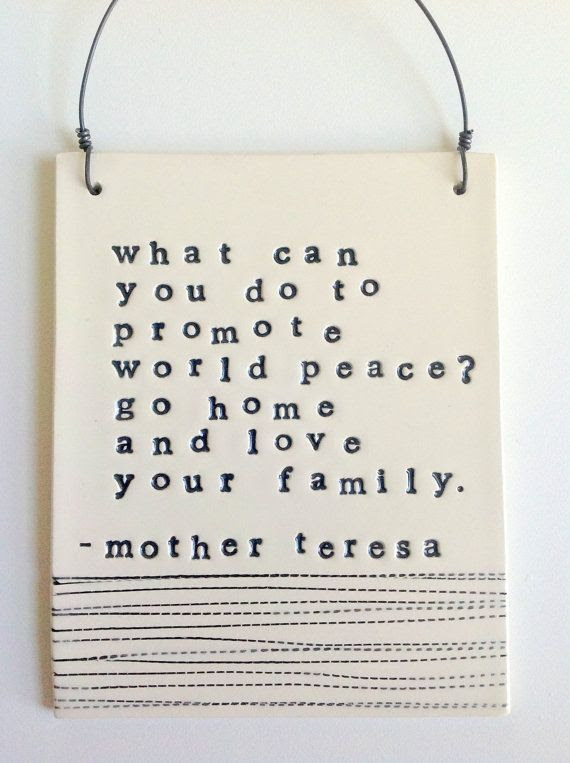 plaque mother teresa quote  IN STOCK by mbartstudios on Etsy, $33.00