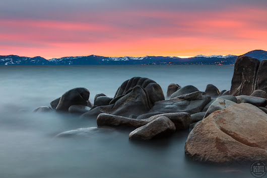 Tahoe Boulders at Sunset 16