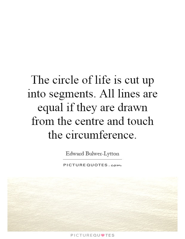 The Circle Of Life Is Cut Up Into Segments All Lines Are Equal
