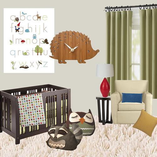 Mod Woodland Creature Nursery Idea Board