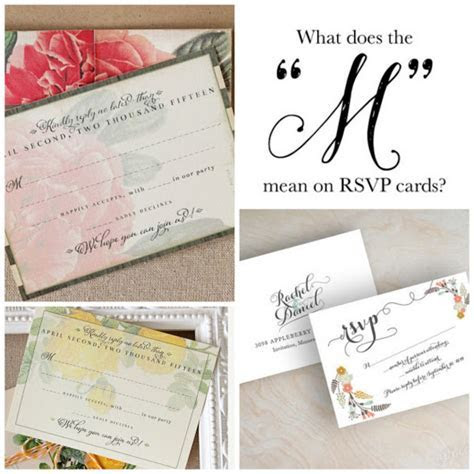 "What does the ""M"" on the RSVP card mean? #weddingplanner #"