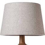 Threshold Herringbone Lamp Shade, Gray, S