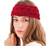Zodaca Women Ladies Winter Crochet Knit Knitted Warmer Headband Hairband Headwrap Ear Band - Red