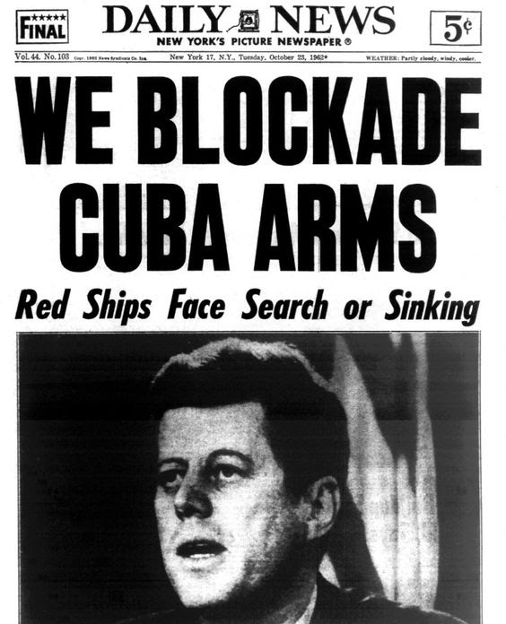 New York Daily News front page during the Cuban Missile Crisis ...