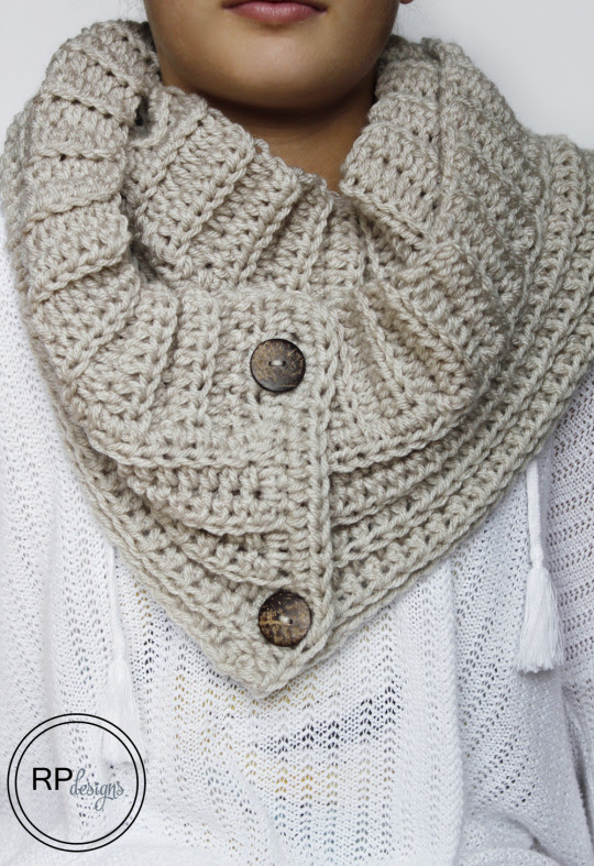 The Andy Button Scarf - Free Crochet Pattern // by Rescued Paw Designs
