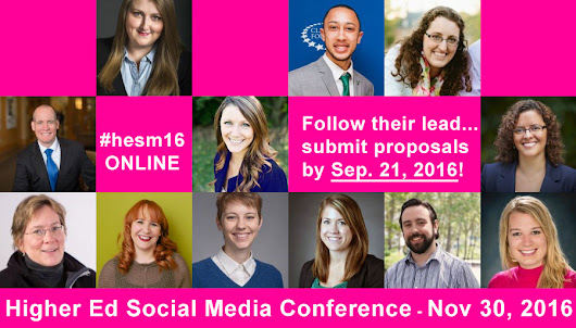 Present at the 4th Higher Ed Social Media Conference: Submit a proposal by Sep 21 #hesm | collegewebeditor.com