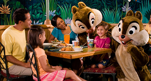Garden Grill Epcot Characters